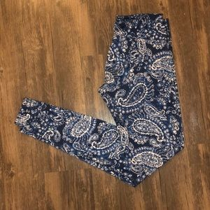 Onzie Paisley Printed Full Length Leggings SZ M/L